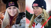 Dlouholetá americká lyžařská hvězda Lindsey Vonnová (vlevo) obvinila svoji krajanku Mikaelu Shiffrinovou z egoismu.