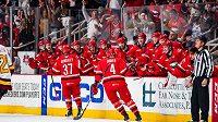 Radost hokejistů Charlotte ve druhém finále AHL.