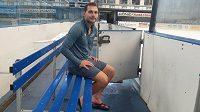 Hokejový útočník Luboš Rob v plzeňské aréně.
