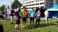 Lidé si přišli zaběhat s Jakubem Holušou, halovým mistrem Evropy na 1500 metrů.