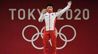 Soutěž vzpěračů ve váze do 61 kg vyhrál v Tokiu Číňan Li Fa-pin.