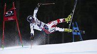 Moment, který připravil Kryštofa Krýzla o ZOH v Pchjongčchangu. Při pádu v prvním kole obřího slalomu v Ga-Pa si český reprezentant přetrhl vaz v koleni.