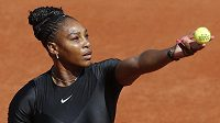 Američanka Serena Williamsová při utkání s Kristýnou Plíškovou.