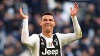 Cristiano Ronaldo z Juventusu po výhře nad Sampdorií.