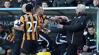 Fotbalista David Meyler z Hullu si od trenéra Newcastlu Pardewa nechtěl nechat nic líbit.