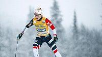 Norská běžkyně na lyžích Therese Johaugová na záběru z norského Beitostolenu.