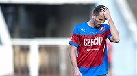 Tomáš Sivok během tréninku české fotbalové reprezentace.