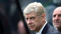 Kouč Arsenalu Arséne Wenger při utkání s Newcastlem.