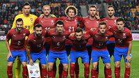 Češti fotbalisté před utkáním se Severními Iry.