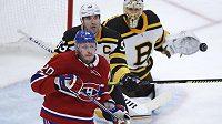 Zdeno Chára a Nicolas Deslauriers v utkání tradičních rivalů z Bostonu a Montrealu