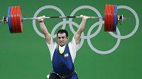 Íránský šampión do 94 kg Sohráb Moradí.