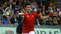 Srbský tenista Novak Djokovič v utkání ve finále Davis Cupu proti Radku Štěpánkovi.