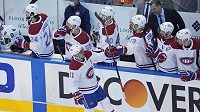 Hokejista Montrealu Canadiens Brendan Gallagher (11) se raduje z gólu proti Philadelphii Flyers.