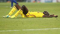 Zklamaný liverpoolský útočník Mario Balotelli po porážce v Basileji.