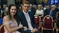 Denisa Rosolová a Adam Sebastian Helcelet na vyhlášení ankety Atlet roku.
