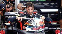 Daniel Ricciardo během tréninku v Maďarsku.