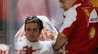 Pilot stáje Ferrari Fernando Alonso při Velké ceně Japonska v Suzuce.