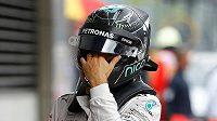 Reakce německého pilota F1 Nica Rosberga po skončení Velké ceny Rakouska.