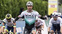 Slovák Peter Sagan v cíli první etapy Kolem Romandie.
