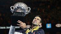 Poslední vítěz Australian Open Novak Djokovič.