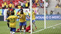 Brazilský hráč Jo (21) si v utkání proti Austrálii připsal na pažbu dva zářezy.