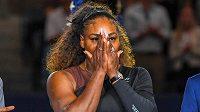 Serena Williamsová po finále US Open.