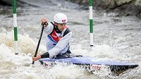 Kanoista Stanislav Ježek při Českém poháru na slalomové dráze ve Veltrusech.