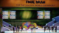 Všichni účastníci světového šampionátu v Brazílii už znají své soupeře do základních skupin.