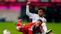 Jan Morávek zastavuje v sobotním duelu Francka Ribéryho, o kterém tvrdí, že je nejlepší na světe.