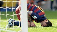 Hvězdný Argentinec Lionel Messi, který se zranil v utkání s Las Palmas, poprvé trénoval s Barcelonou.