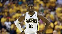 Basketbalista Roy Hibbert z Indiany.