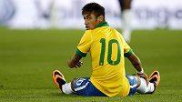 Jedna z hvězd brazilské fotbalové reprezentace Neymar.