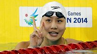 Čínská plavkyně Čchen Sin-i na archivním snímku.