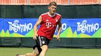 Německý fotbalista Bayernu Mnichov Schweinsteiger během přípravy na novou sezónu.