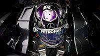 Lewis Hamilton z Mercedesu během tréninku na Velkou cenu Itálie.