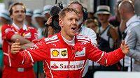 Radost Sebastiana Vettela po vítězství ve VC Austrálie
