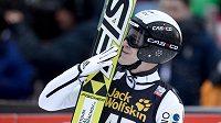 Roman Koudelka se raduje z druhého místa, kterého dosáhl ve švýcarském Engelbergu.