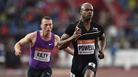 Sprinter Asafa Powell na atletickém mítinku Zlatá tretra 2015.
