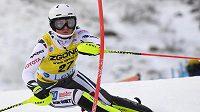 Česká lyžařka Martina Dubovská ve slalomu Světového poháru ve finském Levi.