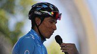 Kolumbijec Nairo Quintana při letošní Tour de France.