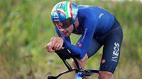 Titul mistra světa v časovce obhájil na šampionátu silničních cyklistů v Belgii Filippo Ganna.
