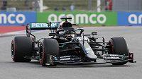 Lewis Hamilton během kvalifikace na Velkou cenu Ruska v Soči.