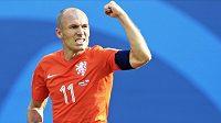 Nizozemská fotbalová hvězda Arjen Robben.