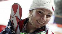 Zlatá medailistka ze slalomu Mikaela Shiffrinová.