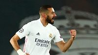 Karim Benzema z Realu se raduje z gólu