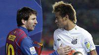 Brazilec Neymar (vpravo) se již brzy stane spoluhráčem Lionela Messiho.