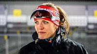 Česká biatlonistka Jitka Landová po vytrvalostním závodě v Östersundu.