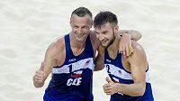 Přemysl Kubala (vlevo) a Jan Hadrava při Evropských hrách.