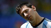 Soustředěný lídr Argentiny Lionel Messi.