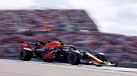 Max Verstappen při Velké ceně USA.